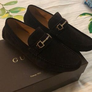 Gucci suede driving moc